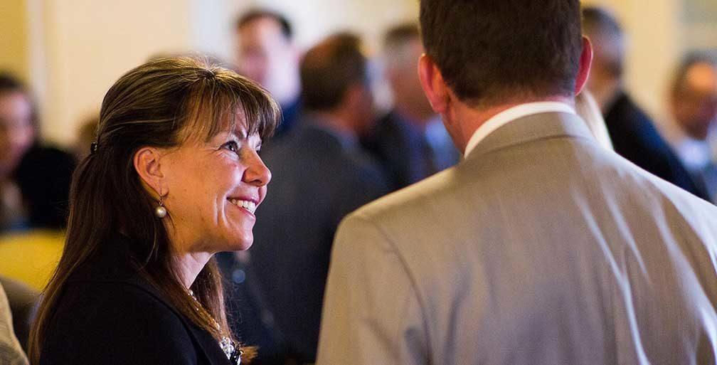 Jennifer Riordan of Wells Fargo talking