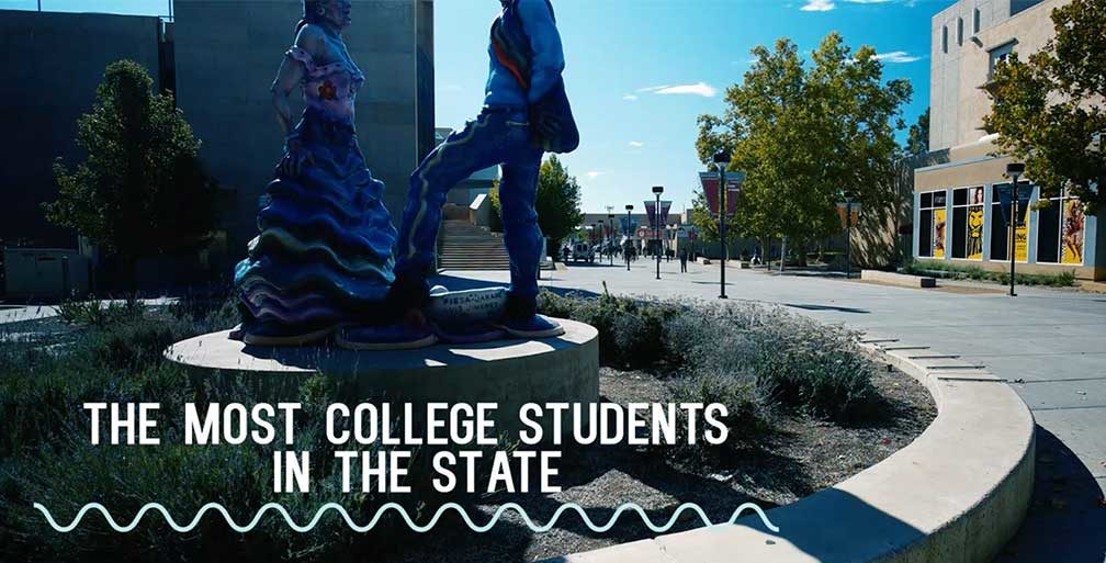 Statue on UNM Main Campus
