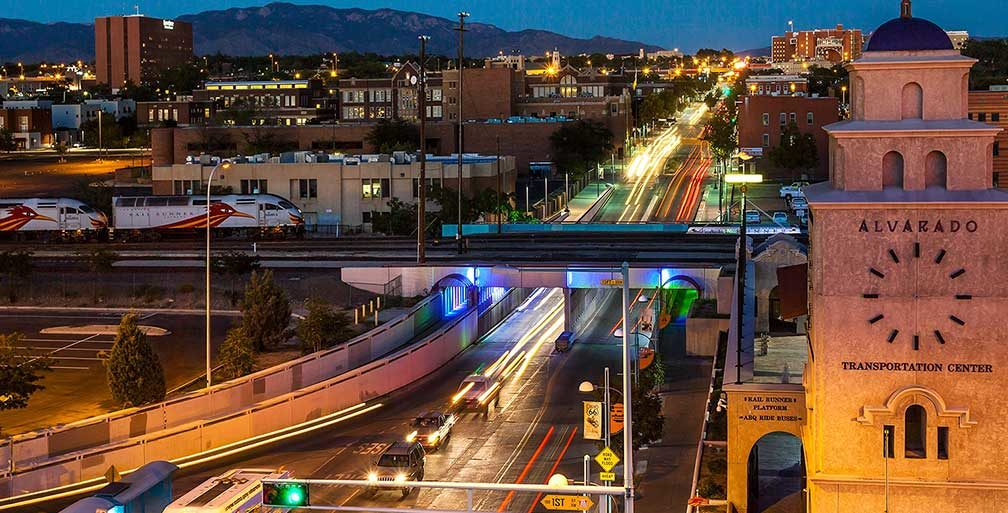 View of Downtown Albuquerque at night