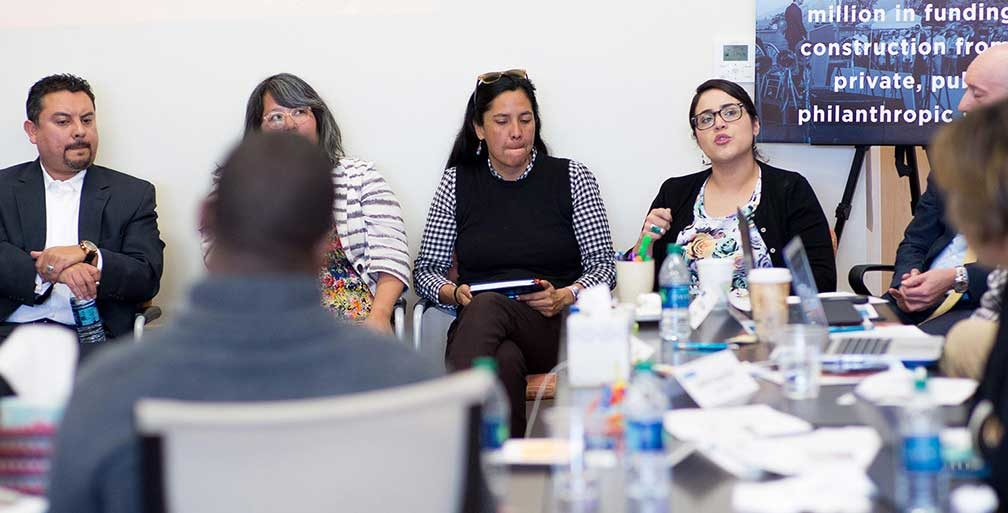 Living Cities and Integration Initiative directors in a meeting
