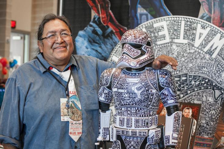 Artists Rod Velarde, Indigenous Comic Con 2016